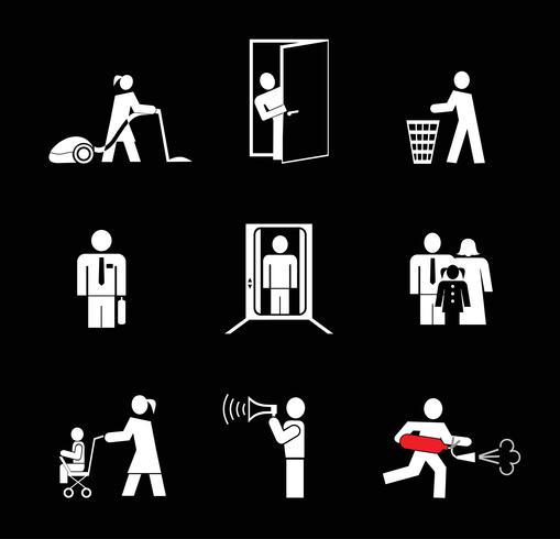 People at work - vector icons