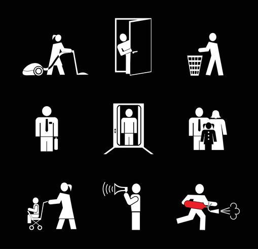 Mensen aan het werk - vector iconen