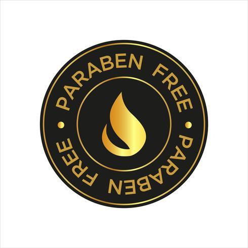 Paraben gratis pictogram. vector