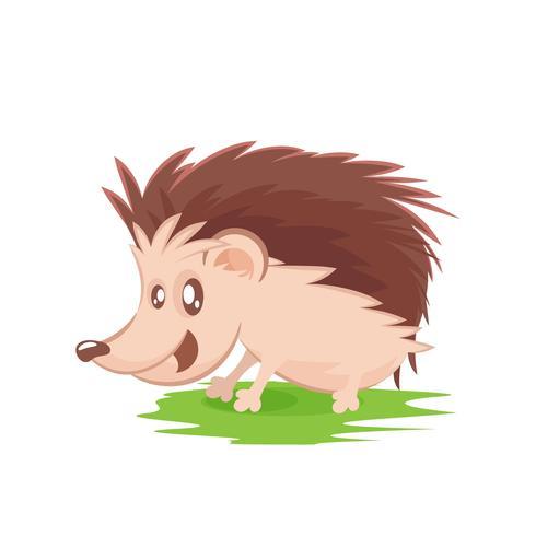 Cartoon baby hedgehog