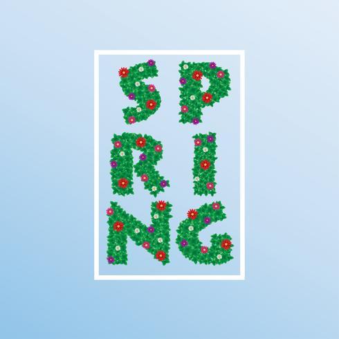 Spring time flowers . Vector ESP10 design.