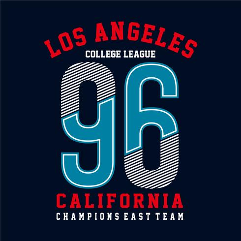 Athletic sport California typography, t-shirt graphics