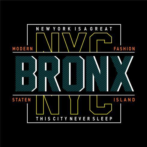 Camiseta de diseño de tipografía moderna de la ciudad de Nueva York.