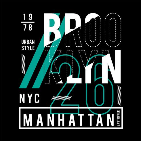 new york city typography design t-shirt