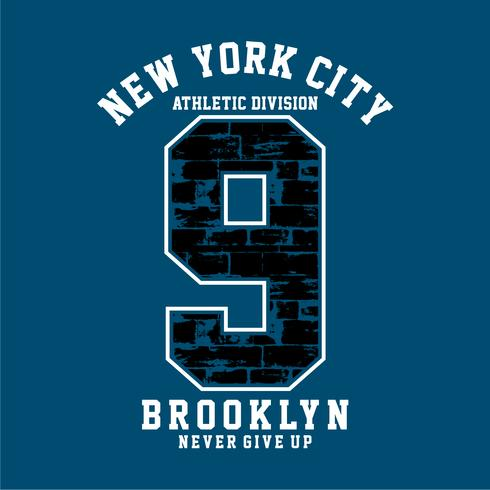 Athletic Division New YorkCity ,Brooklyn typography
