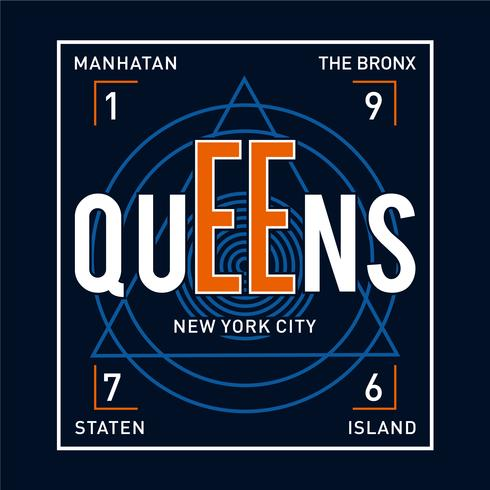 New York City typografie, t-shirt afbeeldingen