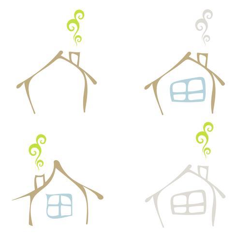 Casa amigável de eco - ícone vector isolado
