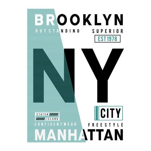 free style new york city typography design tee  t shirt