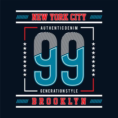 nittionio med New York City typografisk design