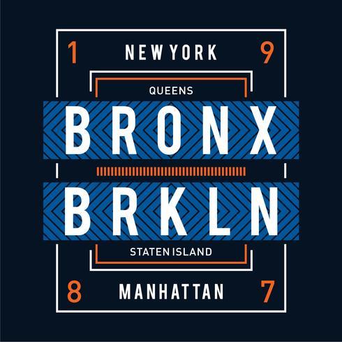 regine design tipografia new york per maglietta