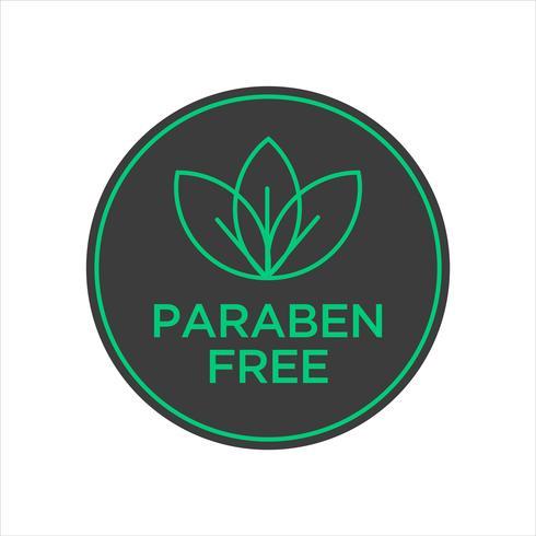 Paraben Free Icon.  vector