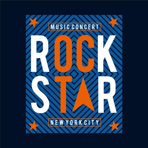 rock-music typography-design for t-shirt,