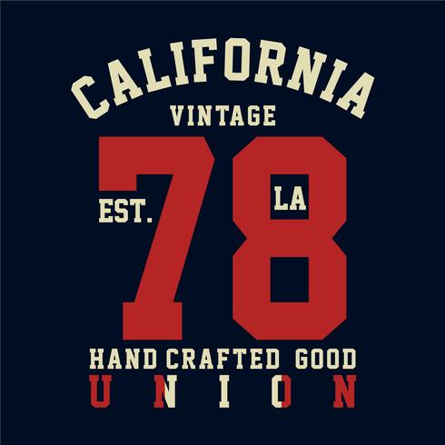 california vintage typography t-shirt graphics