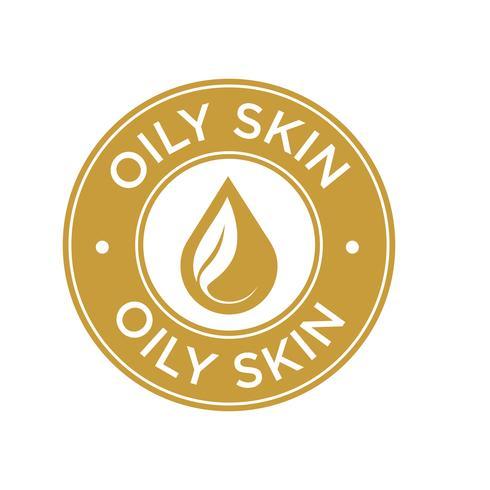 Oily skin icon. vector