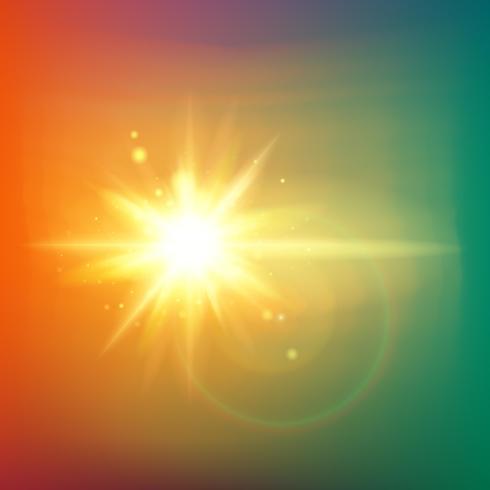 I raggi astratti dell'oro splendono