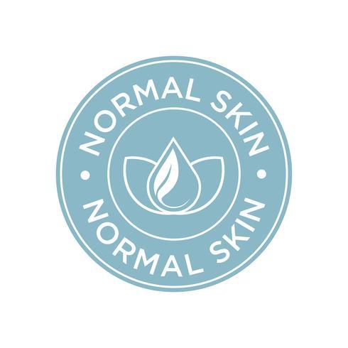 Normaal huidpictogram. vector