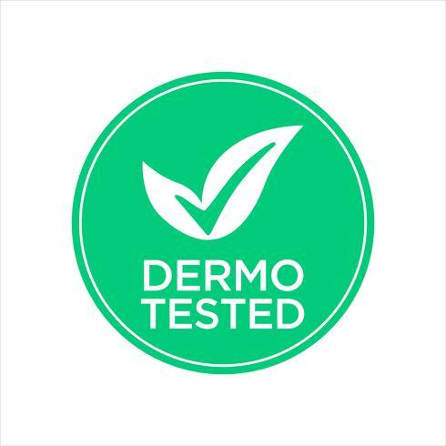 Dermatologisch getest pictogram