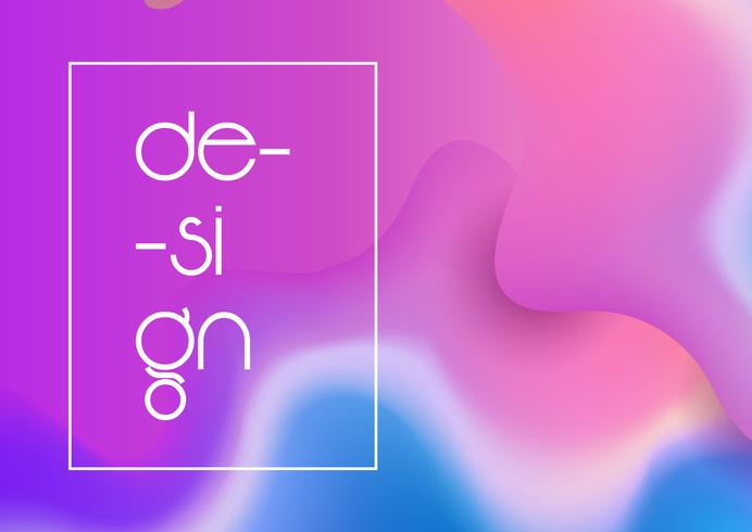 Abstract gradient mesh design background