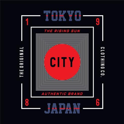 the rising sun tokyo japan  typography design tee t shirt