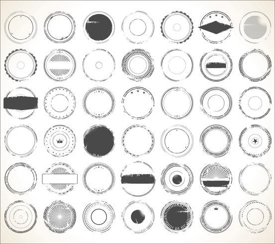 Collection de timbres de caoutchouc grunge vide vecteur