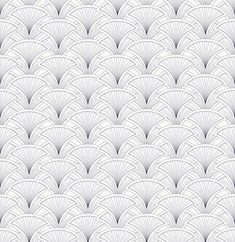 Floral seamless pattern. Abstract fan shape geometric ornament