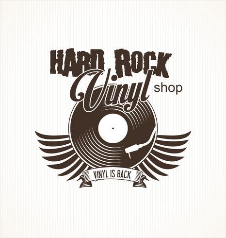 Fundo retro do registro do vinil do hard rock vetor
