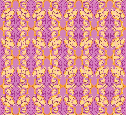 Abstrakt sömlöst mönster. Retro virvel linje prydnad.