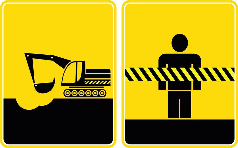 Trabalhos de construção, manter fora