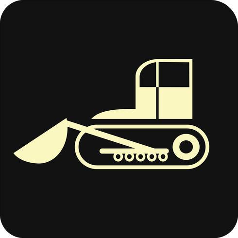 Bulldozer - vector pictogram