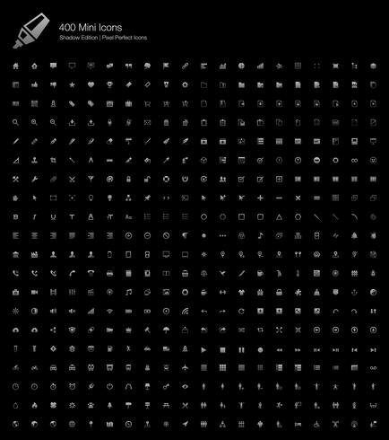 Mini Pequeno Pixel Simples Web Perfect Icons Shadow Edition.