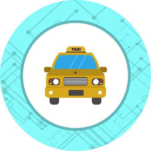 Design de ícone de táxi vetor