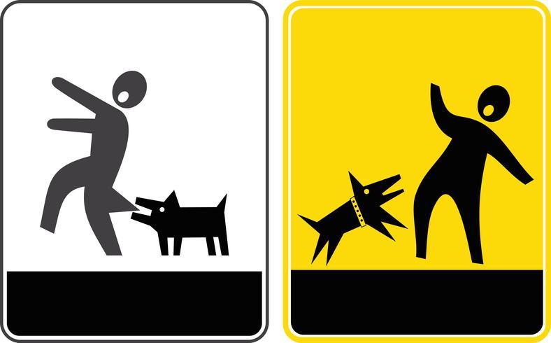 Perigo! Cuidado com o cão! - ícone de vetor