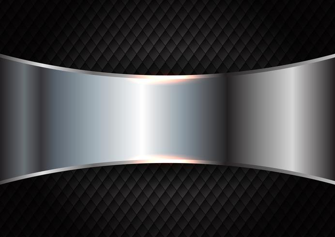 Metal cepillado en el fondo oscuro de la textura vector