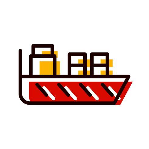 Design de ícone de navio vetor