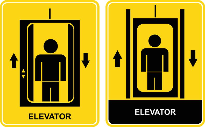 Elevator - vector sign, icon