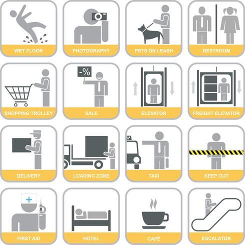 Satz von Vektorzeichen (Icons)