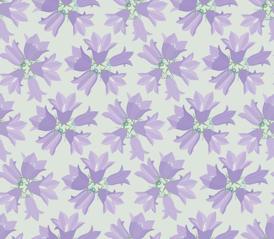 Bloemen naadloos patroon met bloemklokje vector