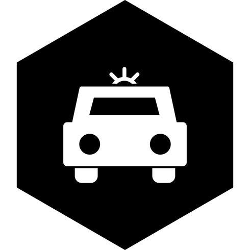 Projeto de ícone de carro de polícia vetor