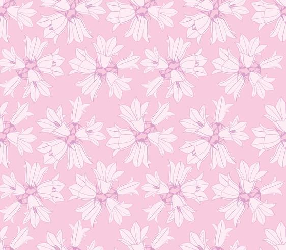 Teste padrão floral sem costura com bluebell flor