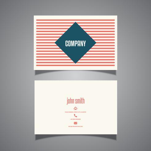Diseño de tarjetas de visita a rayas.