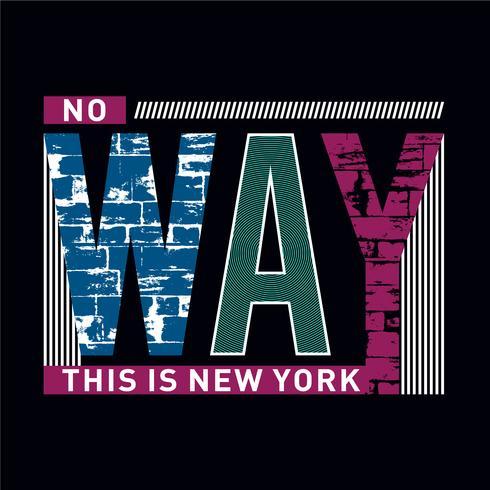 New York Fashion design gráfico de tipografia