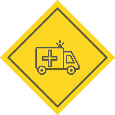 Design de ícone de ambulância