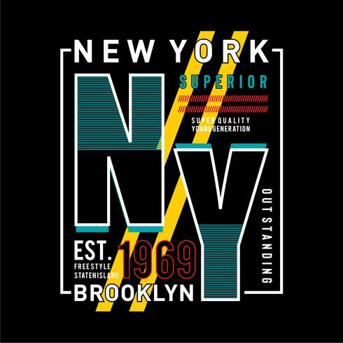 NY Brooklyn Typografie Design, T-Shirt Grafik