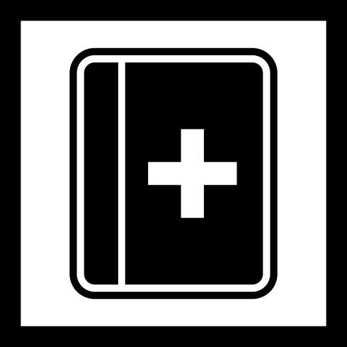 Diseño de icono de libro médico vector