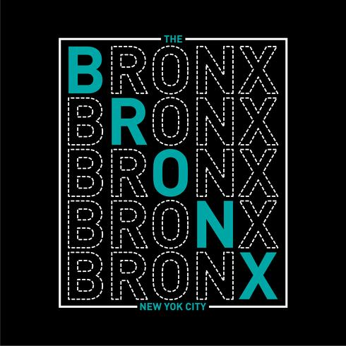 la grafica di tipografia bronx new york city per t-shirt