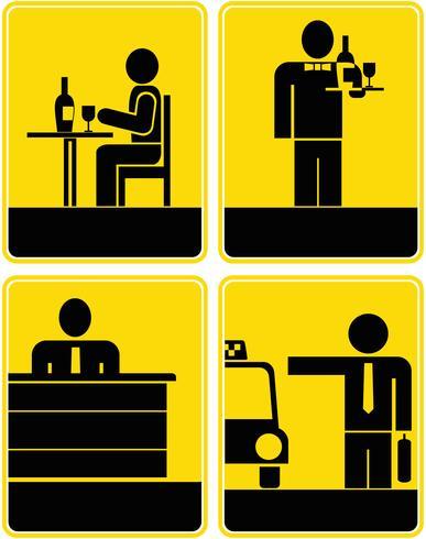 Café, Restaurant, Taxi, Réception - Icônes