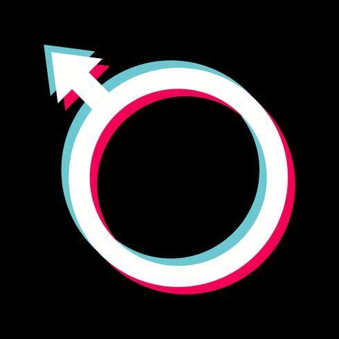 Design de ícone masculino vetor