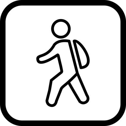 Caminhando para a escola ícone do design vetor