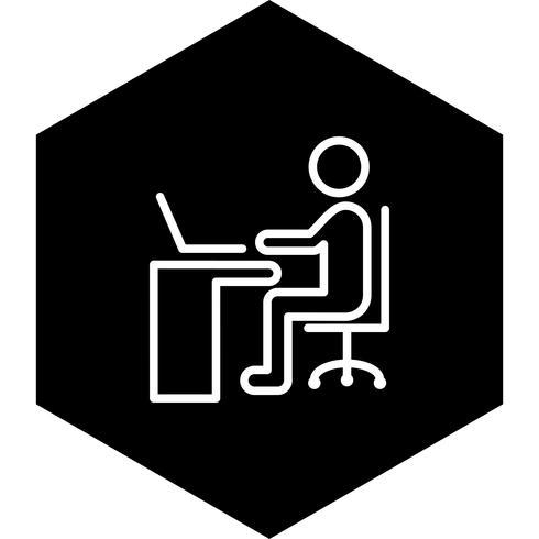 Usando o design do ícone de Laptop vetor