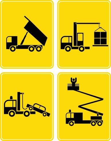 Caminhões de finalidade especial - conjunto de ícones do vetor